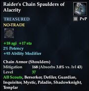 Raider's Chain Spaulders of Alacrity