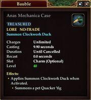 Anas Mechanica Case