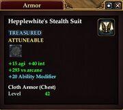 Hepplewhite's Stealth Suit