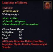 Legplates of Misery