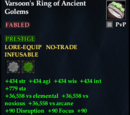 Varsoon's Ring of Ancient Golems