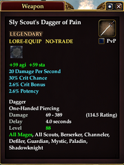 Sly Scout's Dagger of Pain