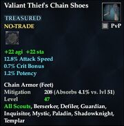 Valiant Thief's Chain Shoes