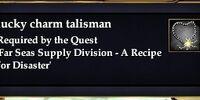 Lucky charm talisman