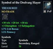 Symbol of the Drolvarg Slayer