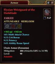Elysian Wristguard of the Darkblade