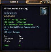Blackhearted Earring