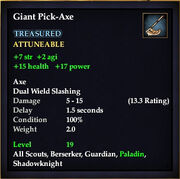 Giant Pick-Axe