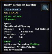 Rusty Dragoon Javelin