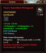 Vicar's Sanctified Wristguard