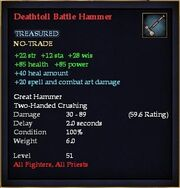 Deathtoll Battle Hammer