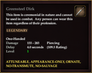 Greensteel Dirk