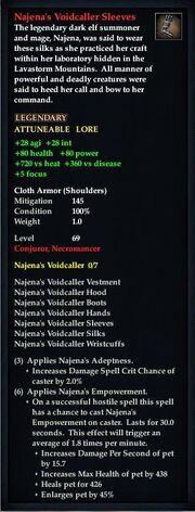 Najena's Voidcaller Sleeves