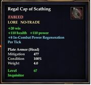 Regal Cap of Scathing