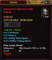 Sacrosanct Barbute of the Exarch