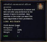 Celestial ceremonial officer greaves