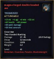 Magma forged double headed axe