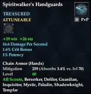 Spiritwalker's Handguards (Treasured)