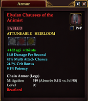 Elysian Chausses of the Animist