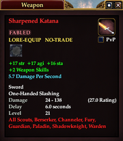 Sharpened Katana