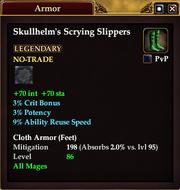 Skullhelm's Scrying Slippers