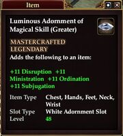 Luminous Adornment of Magical Skill (Greater)