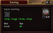 Topaz earring