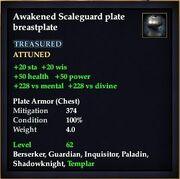 Awakened Scaleguard plate breastplate
