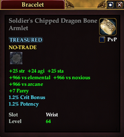 Soldier's Chipped Dragon Bone Armlet