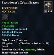 Executioner's Cobalt Bracers