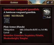 Luminous vanguard gauntlets