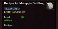 Recipes for Matoppie Bedding