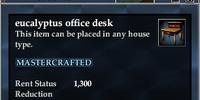 Eucalyptus office desk