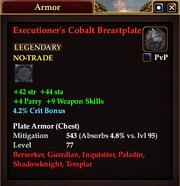 Executioner's Cobalt Breastplate