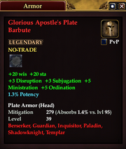 Glorious Apostle's Plate Barbute