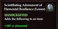Scintillating Adornment of Elemental Resilience (Lesser)