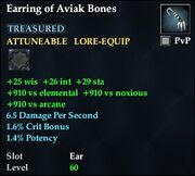 Earring of Aviak Bones