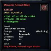 Draconic Accord Blade