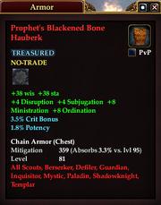 Prophet's Blackened Bone Hauberk