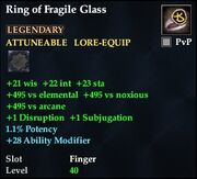 Ring of Fragile Glass