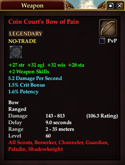 Coin Court's Bow of Pain