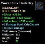 Woven Silk Underlay