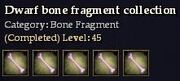 CQ bonefragment dwarf Journal
