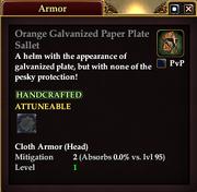 Orange Galvanized Paper Plate Sallet
