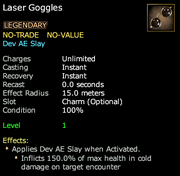 Laser Goggles