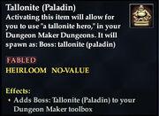 Tallonite (Paladin)