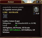 Exquisite woven pants