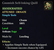 Gnomish Self-Inking Quill