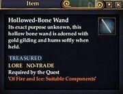 Hollowed-Bone Wand