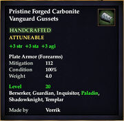 Carbonite Vanguard Gussets